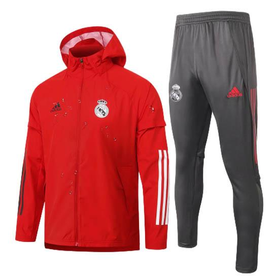 giacca storm real madrid rosso 2020-21